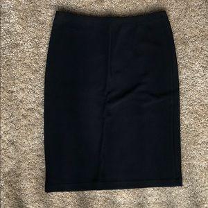 Black, stretch, ribbed skirt